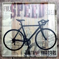 painting vintage bicycle metal tin signs home decor bar pub