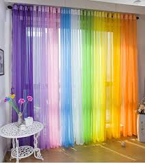 Multi Color Curtains Freeshipping 6m Curtain For10 3m Track Multi Colour Yarn Window