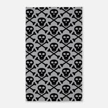 Black And Gray Area Rug Skull Rugs Skull Area Rugs Indoor Outdoor Rugs