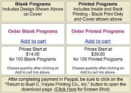 Wedding Program Printing Wedding Program Template
