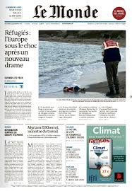 si鑒e du journal le monde le monde shows aylan photo on front page only national