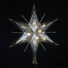 impressive decoration lighted tree topper buy 15 capiz