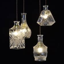 Glass Bottle Chandelier Creative Arts Personalized Retro Chandelier Lighting Led
