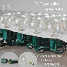 string lights 25ft clear globe bulb g40 string light set with 25