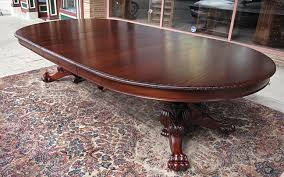 Antique Mahogany Dining Room Set by Ribbon Stripe Mahogany Lions Claw Foot Dining Table Tables