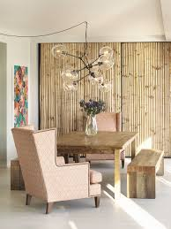 bamboo accent chair dining room eclectic with wingback chair birch
