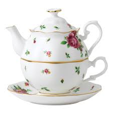 country roses tea set new country roses white tea for one royal albert us