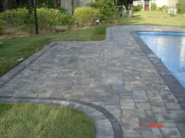decorating awesome patio design with cambridge pavers and