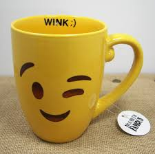 mug me i u0027m famous 16oz yellow emoji emoticon smile coffe mug tea