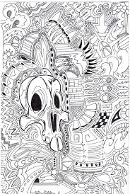color by numbers skull by tastyrat on deviantart