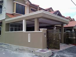 Modern Home Design Malaysia by Elegant Warm Lighting Metal Wainscoting Exterior Ideas With Wooden