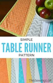 how to make table runner at home simple table runner diy the sewing loft