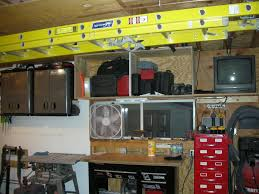 extension ladder hanging ideas garage journal board