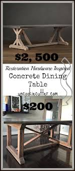 diy concrete dining table concrete dining table diy for less uncookie cutter