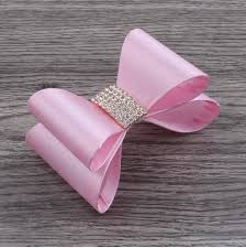 hair bows wholesale newborn satin hair bows with rhinestone buttons baby boutique hair