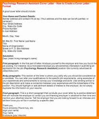 cover letter for research assistant position supervisor position