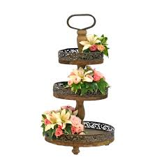 rustic cake stand frou frou flowers treasures