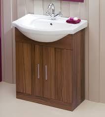 Oslo Bathroom Furniture Walnut 65cm Vanity Unit Basin