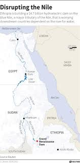 nile river on map a deal on africa s dam eases tensions on the nile