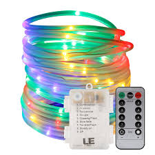 33ft multi color led rope light with remote le