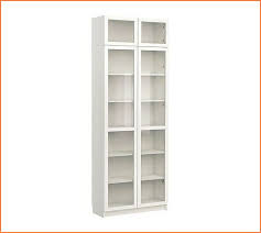 White Tall Bookcase Tall White Bookcase With Glass Doors Home Design Ideas