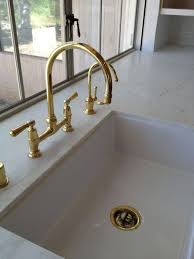 Kitchen Faucet Brass Remarkable Modest Unlacquered Brass Kitchen Faucet 10 Easy Pieces