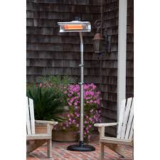 infrared heaters outdoor patio fire sense stainless steel telescoping offset pole mounted