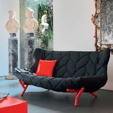 canap kartell foliage sofa canapé design kartell à 2 places structure en métal