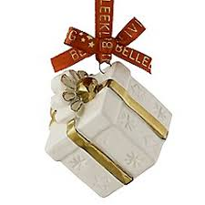 belleek living treasures mini gift box ornament