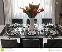 Dining Table Settings Pictures Dining Table With Table Setting Stock Image Image Of