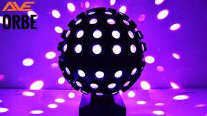 led disco ball light ave orbe led mirror ball light youtube