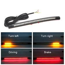 led light strip turn signal universal flexible 32 leds light strip motorcycle tail brake light