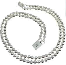 beaded silver necklace images Silver bead necklace clipart jpg