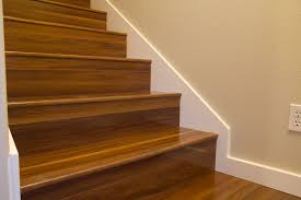 Laminate Floor Transition Laminate Flooring In Stair Treads With Out Flush Nosing