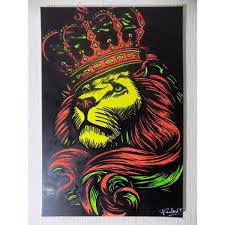 chambre rasta tableau rasta peinture rastafari afrique vert jaune