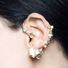 ear cuff jeweled elephant ear cuff