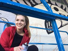 Mural Artist by Public Art Ola Volo Creates New Mural For South Granville