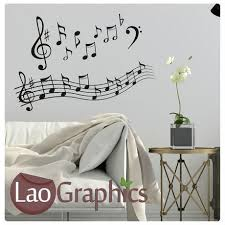 Music Note Home Decor Trumpet Musical Wall Stickers Home Decor Music Art Decals