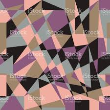 trend colors geometric abstract pattern in trend colors stock vector art