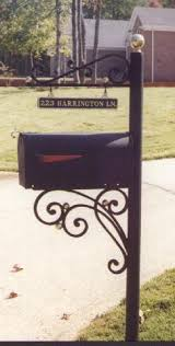 iron mailbox post search landscaping