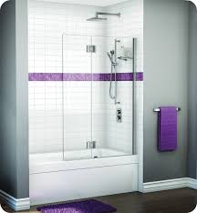 Glass Wax For Shower Doors Fleurco Vwxsh24 Evolution Monaco Square Top Tub Shield With Fixed