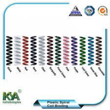 bureau de liaison reliure spirale coilbind en plastique pour le bureau de liaison et