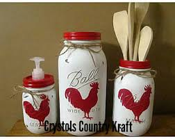 rooster kitchen canisters rooster cookie jar etsy