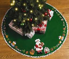 santa s sweet shop bucilla 43 tree skirt kit 86188 fth studio