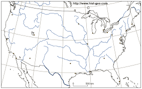 Asia Map Outline by Outline Map Of The Usa Rivers Main Cities Parallels Meridians