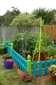 colorful touches for outdoor decorating diy fence creative and