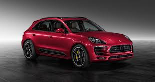porsche red porsche macan turbo painted in impulse red metallic is eye candy