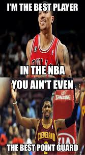 Kyrie Irving Memes - nba meme team on twitter derrick rose vs kyrie irving http t co