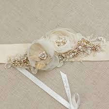 bridal sash bridal sash gold wedding belt gold bridal dress sash