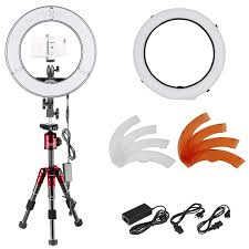 neewer led ring light neewer 14 inch outer dimmable led ring light and tabletop tripod